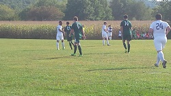 Boys Soccer Team in Action 2017