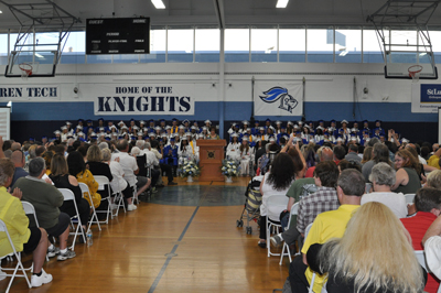 Principal Vogel addresses the graduates