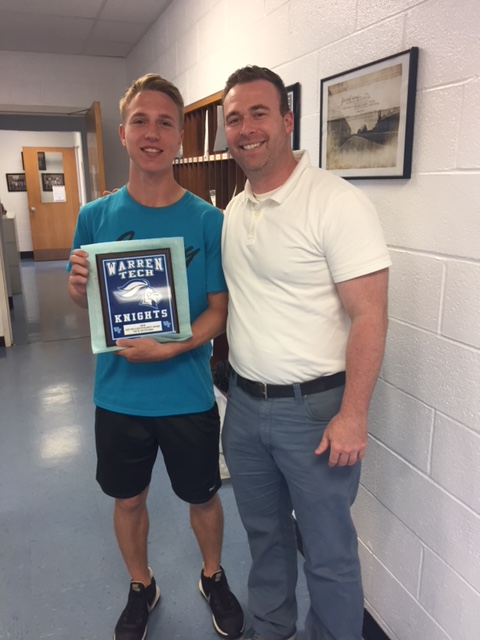 Nick Hufford pictured with Athletic Director Gary Colucci